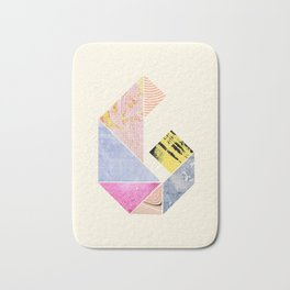 Collaged Tangram Alphabet - G Bath Mat