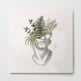 silently growing Metal Print