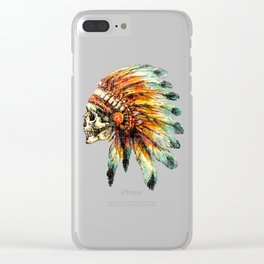 Skull Colorful Chief Clear iPhone Case
