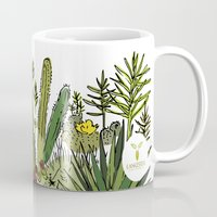 cactus Mugs featuring cactus by Praia by LSánchez