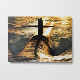 USS MARYLAND (SSBN-738) Metal Print