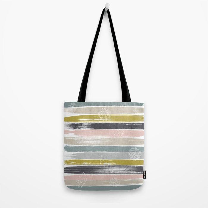 Fragments, Brushstrokes and Circles Tote Bag