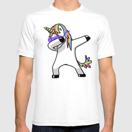 Dabbing Unicorn Shirt Dab Hip Hop Funny Magic T-shirt