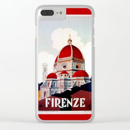 Florence Firenze Basilica Clear iPhone Case