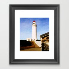 Cape Nelson Lighthouse & Keepers Quarters Framed Art Print