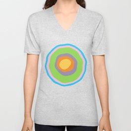 Minimalist Irregular Circles Unisex V-Neck