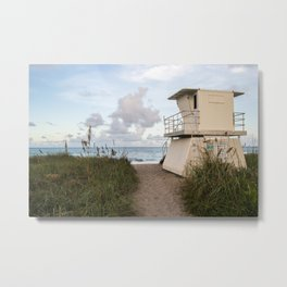 Hobe Sound Lifeguard  Metal Print