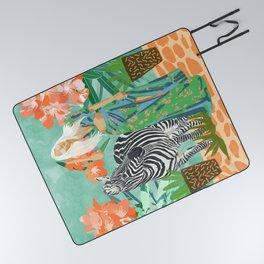 Never Change Your Stripes #illustration #painting Picnic Blanket