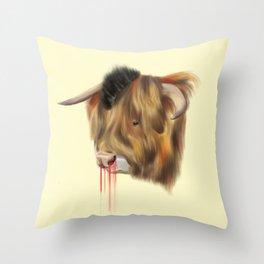 The Bull Throw Pillow