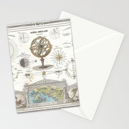 Uranographic and Cosmographic Chart (1852) Stationery Cards