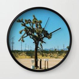 Joshua Tree Mailboxes Wall Clock