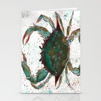 crab Stationery Cards featuring Crab by LEIGH ANNE BRADER