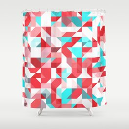 Staccato Red Shower Curtain