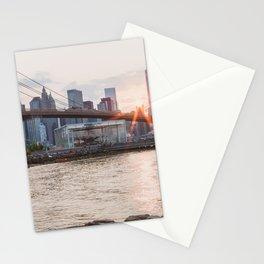 Sunset over Brooklyn Bridge Stationery Cards
