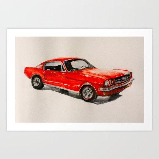 Mustang 66 Art Print