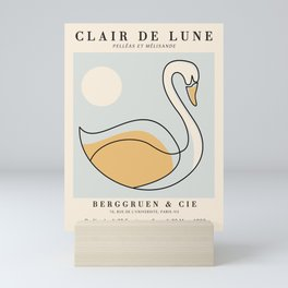 Exibition poster-Clair de Lune-1902. Mini Art Print