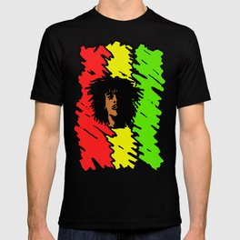reggae art, reggae posters, reggae colors red yellow green, T-shirt