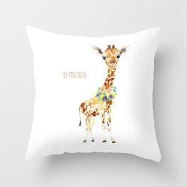 Be YOU tiful Giraffe Baby Throw Pillow