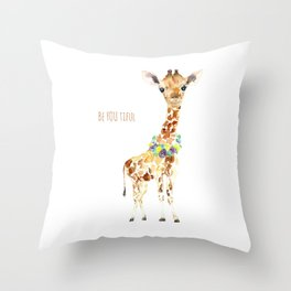 Be YOU tiful Giraffe Baby Throw Pillow