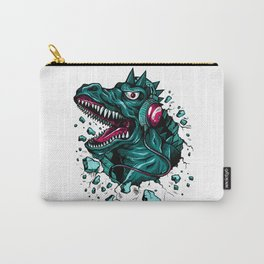 Dino with Headphones Green Cyprus Carry-All Pouch