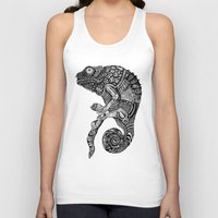 chameleon Tank Tops featuring Chameleon  by Ejaculesc