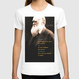 Charles Darwin Inspirational Quote T-shirt