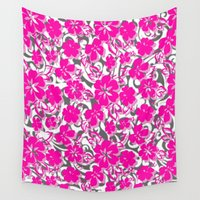 flower pattern Wall Tapestries featuring Flower Pattern  by Sammycrafts