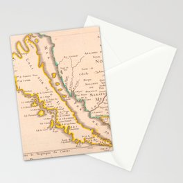 Vintage Map of California (1657) Stationery Cards