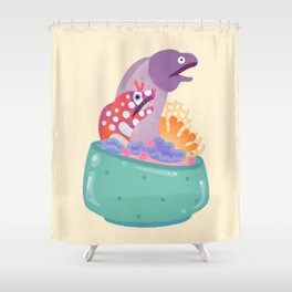 Eel flower pot Shower Curtain