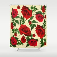 roses Shower Curtains featuring roses  by mark ashkenazi