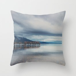 reflections in the water ...  Throw Pillow