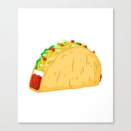 Time for Tacos Mexican Food Latin Food Canvas Print