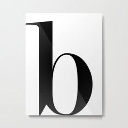 """Monogram Series Letter """"b"""" Metal Print"""