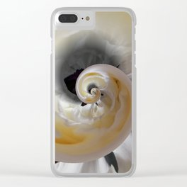 silken whirl abstract 3d digital painting Clear iPhone Case
