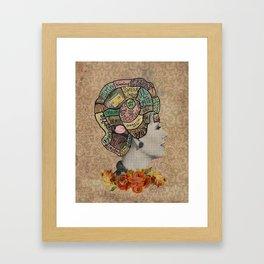 Feminine Phrenology Framed Art Print