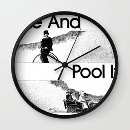 Bike And Pool It Wall Clock