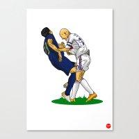 zidane Canvas Prints featuring Zidane & Materazzi by Just Agung