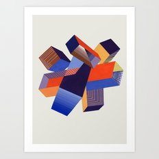 Geometric Painting by A. Mack Art Print
