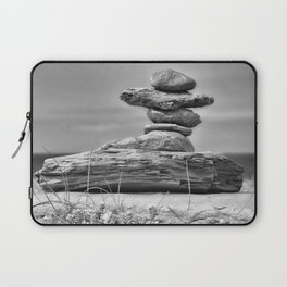 The Cairn in Black and White Laptop Sleeve