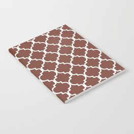 Moroccan Trellis (White & Brown Pattern) Notebook