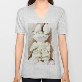 Bunny in Bloomers Unisex V-Neck