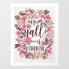 My Y'all is Authentic – Vintage Palette Art Print