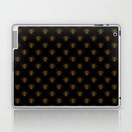Foil Bees on Black Gold Metallic Faux Foil Photo-Effect Bees Laptop & iPad Skin