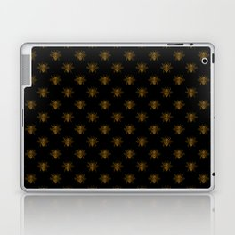 Foil Bees on Black Gold Metallic Faux Foil Photo-Effect Bees Laptop & iPad Skin