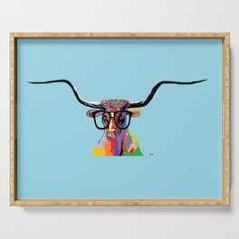 Hipster Longhorn Serving Tray