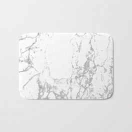 Gray white abstract modern marble pattern Bath Mat