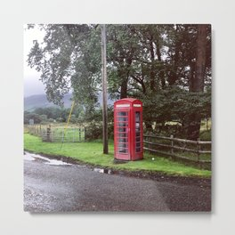 Scottish Phonebox Metal Print