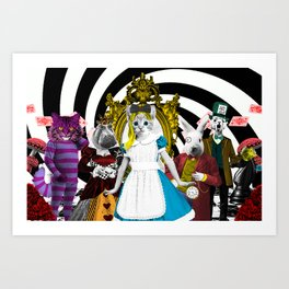 Cat-lice in Wonderland Art Print