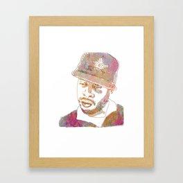 J Dilla Marble Effect Framed Art Print