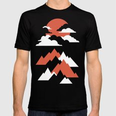 Fall Mountains Mens Fitted Tee MEDIUM Black